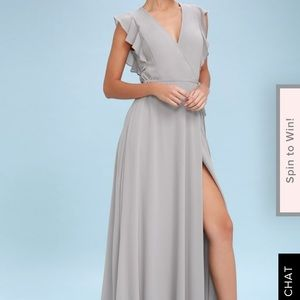 Lulus wrap flutter sleeve dress
